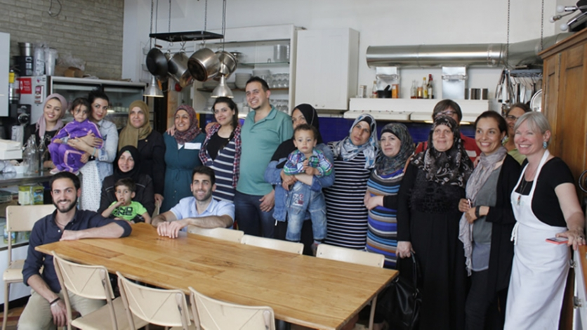 Syrian refugees at the Depanneur