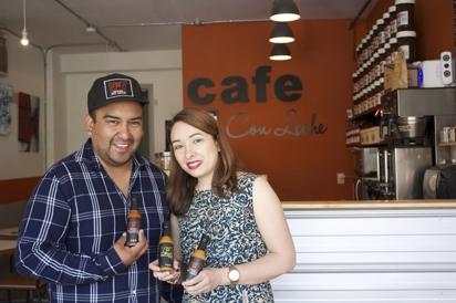Carlos Flores and his partner Sandra DaSilva