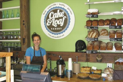 Cake & Loaf Bakery co-owner Josie Rudderham selling bread