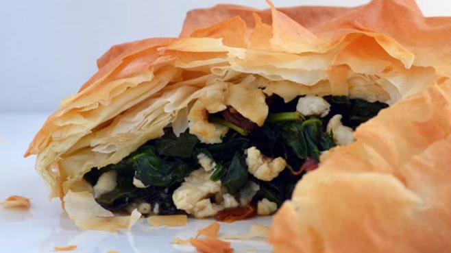 Wild Green Phyllo Pie