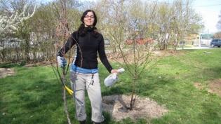 Susan Poizner in Avalon Orchards in Innisfil